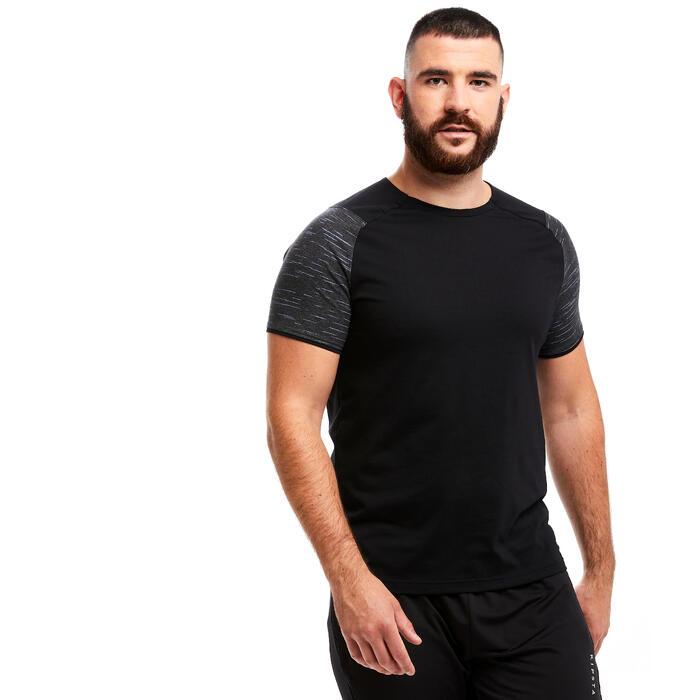 Voetbal T-shirt T100 team zwart