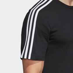 Heren-T-shirt voor pilates en lichte gym zwart