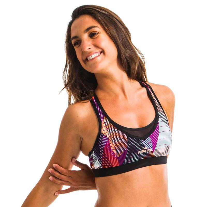 Women's Aquafitness Swimsuit Top Lou - Vib Pink