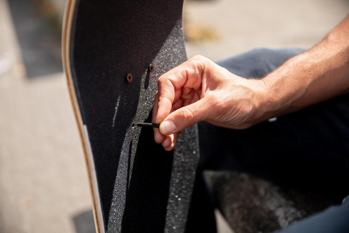 visserie skateboard