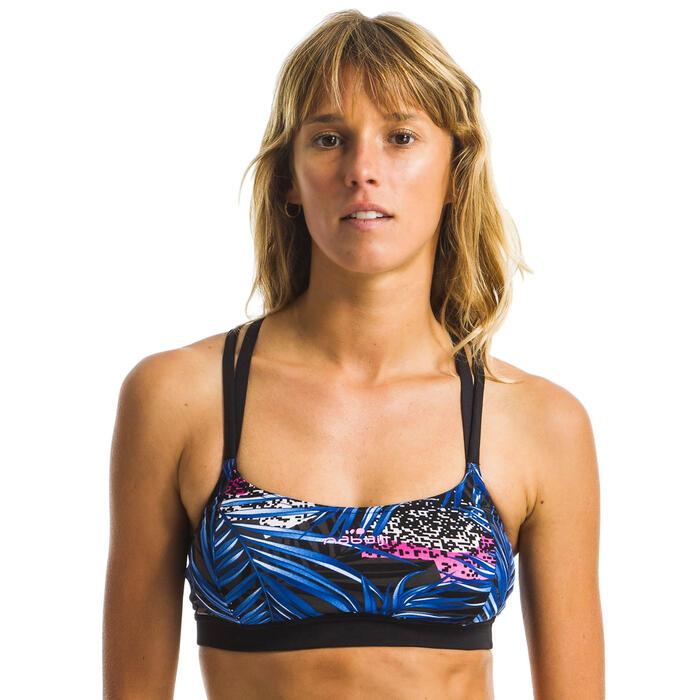 Sportbikini Oberteil Aquafitness Meg Mem Damen schwarz