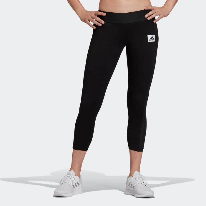 Dameslegging voor pilates en lichte gym zwart