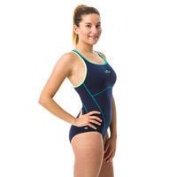 Women's one-piece swimsuit Kamiye+ - blue/green