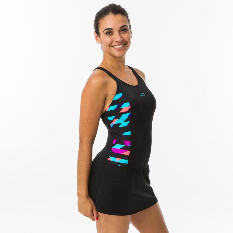 Pakaian Renang Rok One-Piece Wanita Vega - Black Typ