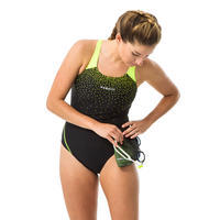 Women's One-Piece Swimsuit Kamyleon - black yellow