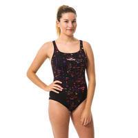 Women's one-piece chlorine-resistant swimsuit Kamiye - Imo Black