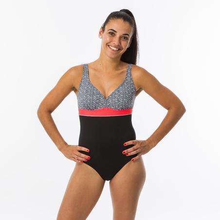 Kaipearl Women's Body-Sculpting One-Piece Swimsuit - Triki Mipy Black
