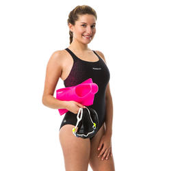 Sportbadpak voor zwemmen dames Kamyleon bull roze