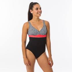 Corrigerend badpak voor zwemmen dames Kaipearl triki mipy zwart