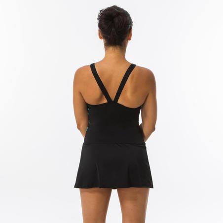 Women's Swimming One-Piece Swimsuit Vega Skirt - Black Typ