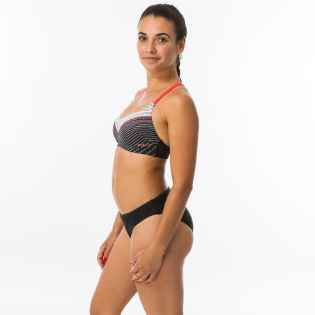 Women's Swimming Swimsuit Top Riana - Gabo Black