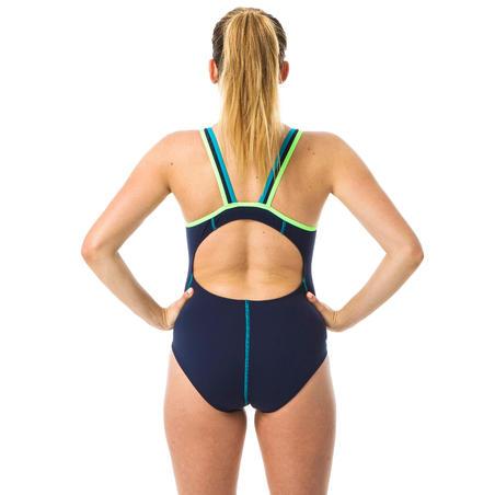 Baju renang one-piece wanita Kamiye+ - biru/hijau