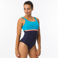 Maillot de bain de natation une pièce femme Heva li bleu marine