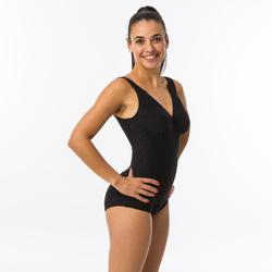 Maillot de bain de natation femme gainant une pièce Kaipearl New noir