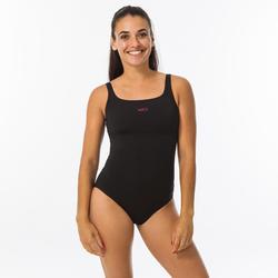 Maillot de bain de natation femme 1 pièce Heva+ noir