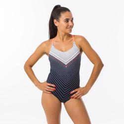 Sportbadpak voor zwemmen dames Riana Gab marineblauw