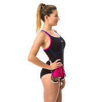 Women's one-piece swimsuit Kamiye+ - black/pink