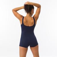 Women's 1-piece shorty swimsuit Heva - Navy Blue