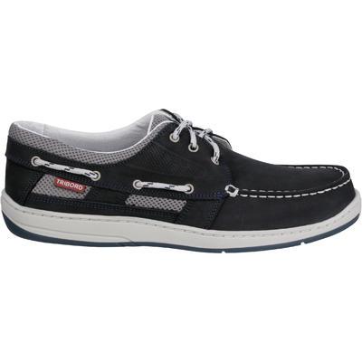 קליפר נעלי יכטה מעור לגברים - כחול כהה