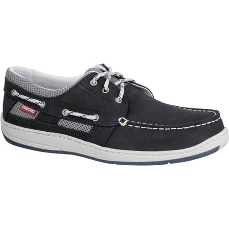 CLIPPER Men's Leather Boat Shoes - Blue