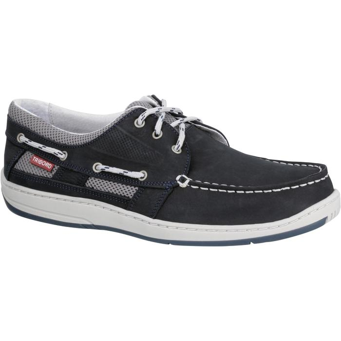 Bootschoenen Clipper voor heren marineblauw