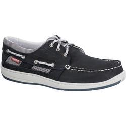 Zapatos náuticos de cuero para hombre CLIPPER azul marino
