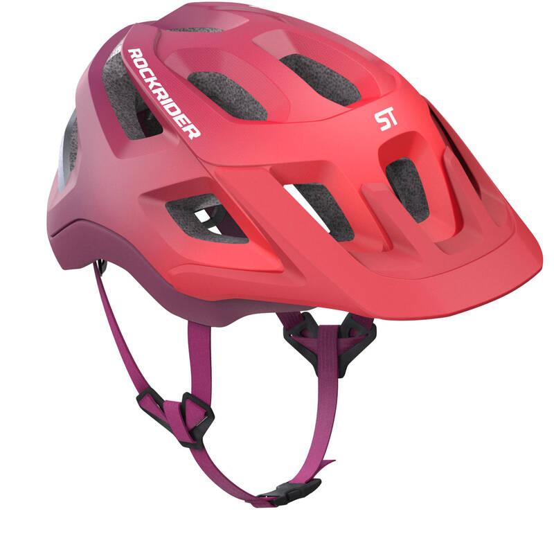 PŘILBY NA HORSKÁ KOLA Cyklistika - HELMA HORSKÉ KOLO 500 FIALOVÁ ROCKRIDER - Helmy, oblečení a obuv
