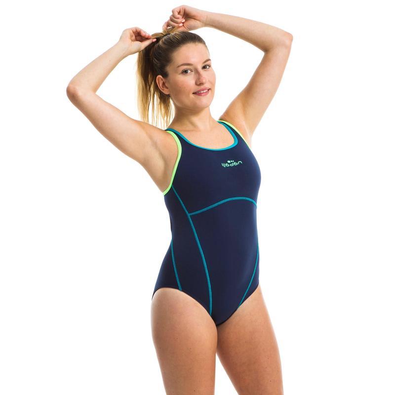 Kamiye+ Women's One-Piece Swimsuit - Blue Green