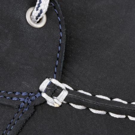 CLIPPER Men's Leather Boat Shoes - Blue