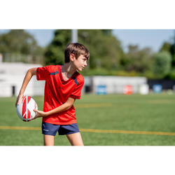 Ballon de rugby R100 taille 4 training rouge