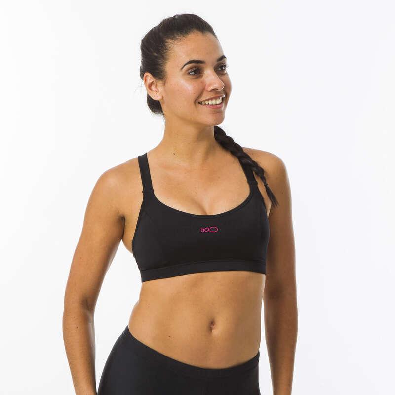 BADKLÄDER FÖR SIMNING, DAM Dam - Bikiniöverdel Vega svart NABAIJI - Badkläder