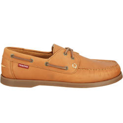 Leren bootschoenen CR500 voor heren donkerbruin - 189024
