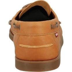 Leren bootschoenen CR500 voor heren donkerbruin - 189025