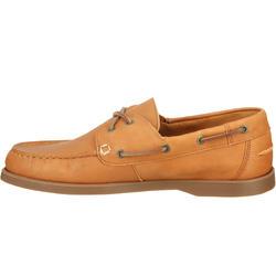 Leren bootschoenen CR500 voor heren donkerbruin - 189026