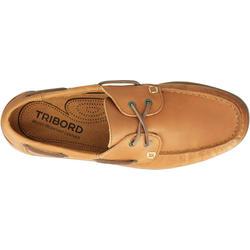 Leren bootschoenen CR500 voor heren donkerbruin - 189027