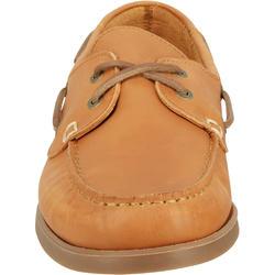 Leren bootschoenen CR500 voor heren donkerbruin - 189028