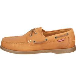 Leren bootschoenen CR500 voor heren donkerbruin - 189029