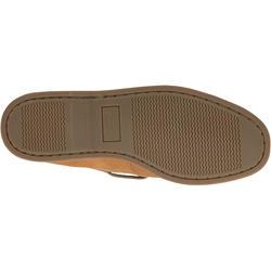 Leren bootschoenen CR500 voor heren donkerbruin - 189030