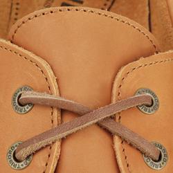 Leren bootschoenen CR500 voor heren donkerbruin - 189031