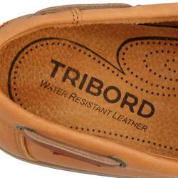 Leren bootschoenen CR500 voor heren donkerbruin - 189033