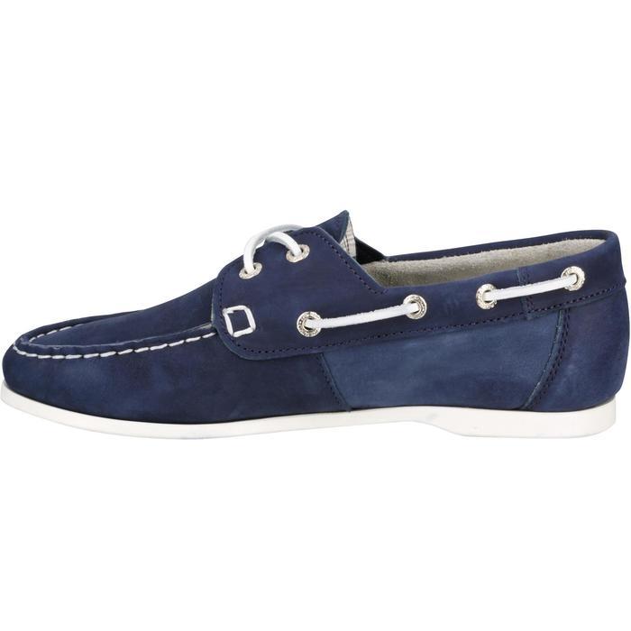 Leren bootschoenen dames Cruise 500 marineblauw