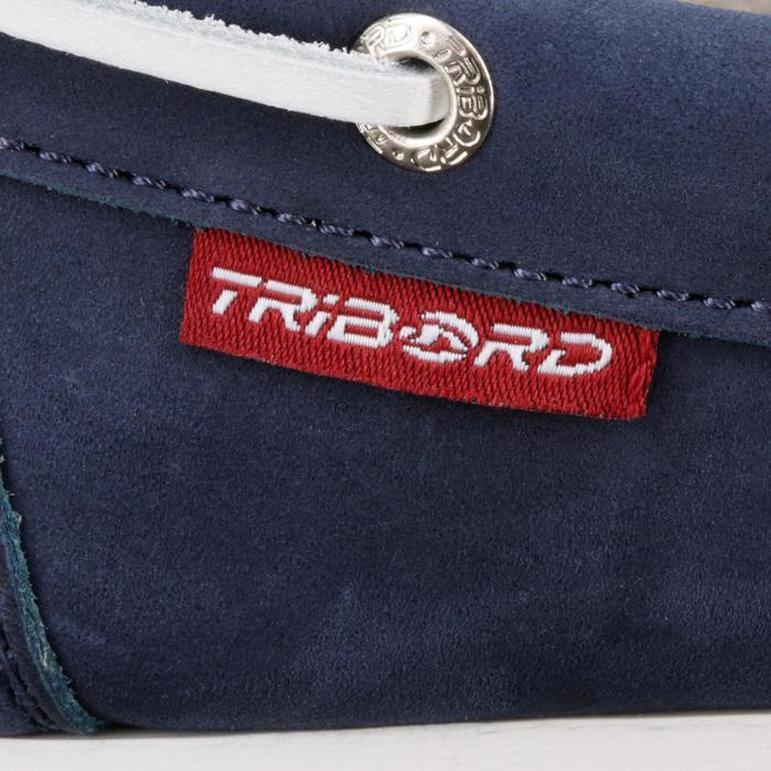 Calzado náutico de cuero mujer Cruise 500 azul marino Tribord ... 78fe0c1a096