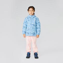 女童款2到6歲保暖防水健行外套SH100