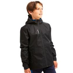 Regenjas kind T500 zwart
