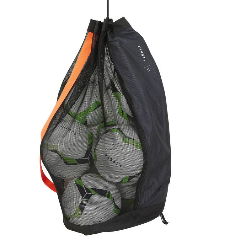 DOPLŇKY KOLEKTIVNÍ SPORTY Volejbal - VAK NA 8 MÍČŮ ČERNÝ KIPSTA - Volejbalové míče