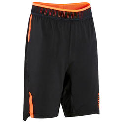 SHORT DE FOOTBALL ENFANT CLR JR NOIR ET ORANGE