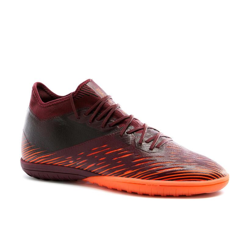 Chaussure de football terrain dur CLR TURF TF bordeaux et orange