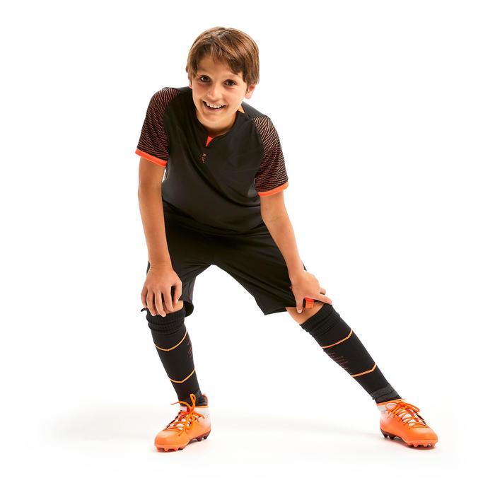 CHAUSSETTES DE FOOTBALL ENFANT MONTANTE CLR NOIR / ORANGE