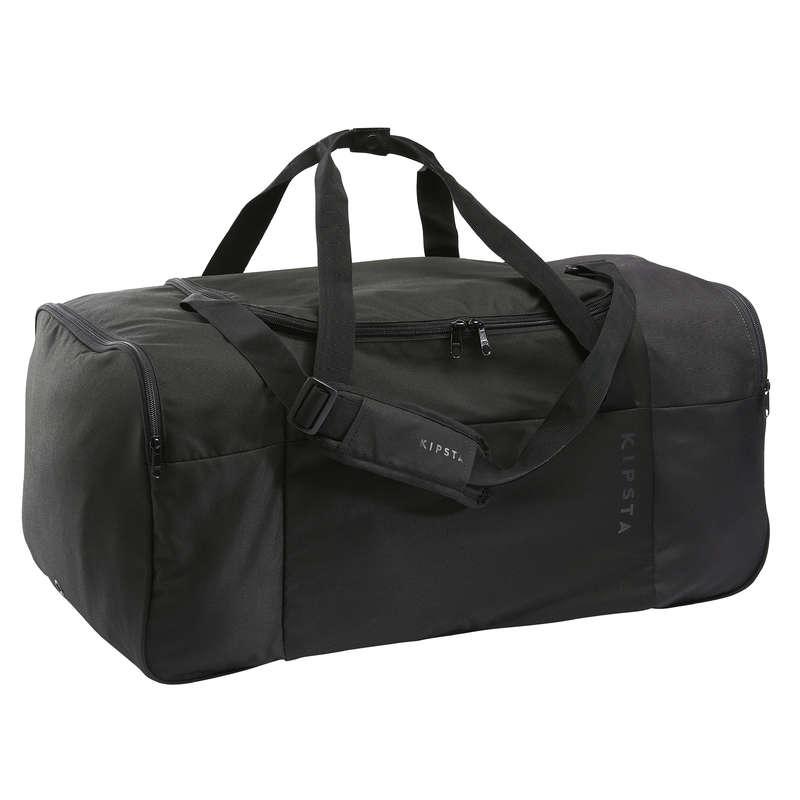 Sportväskor lagsport. Lagsport - Väska Essentiel 75 L svart KIPSTA - Lagsportstillbehör och Material