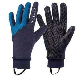 Handschoenen voor voetbal volwassenen Keepdry 500 blauw
